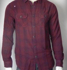 Dstrezzed Hemd Check Double Weave Dark Red