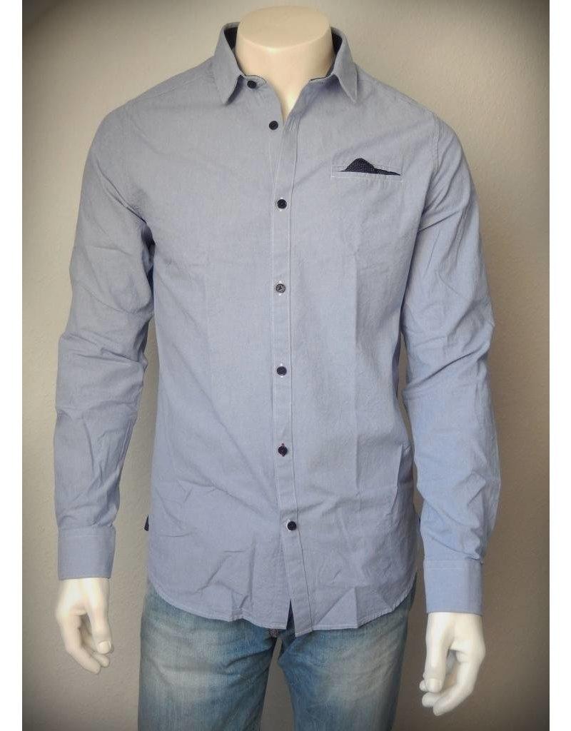 Dstrezzed Hemd Chambray Blue/White