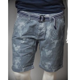 Dstrezzed Chino Shorts Tonal Palm Steel Blue