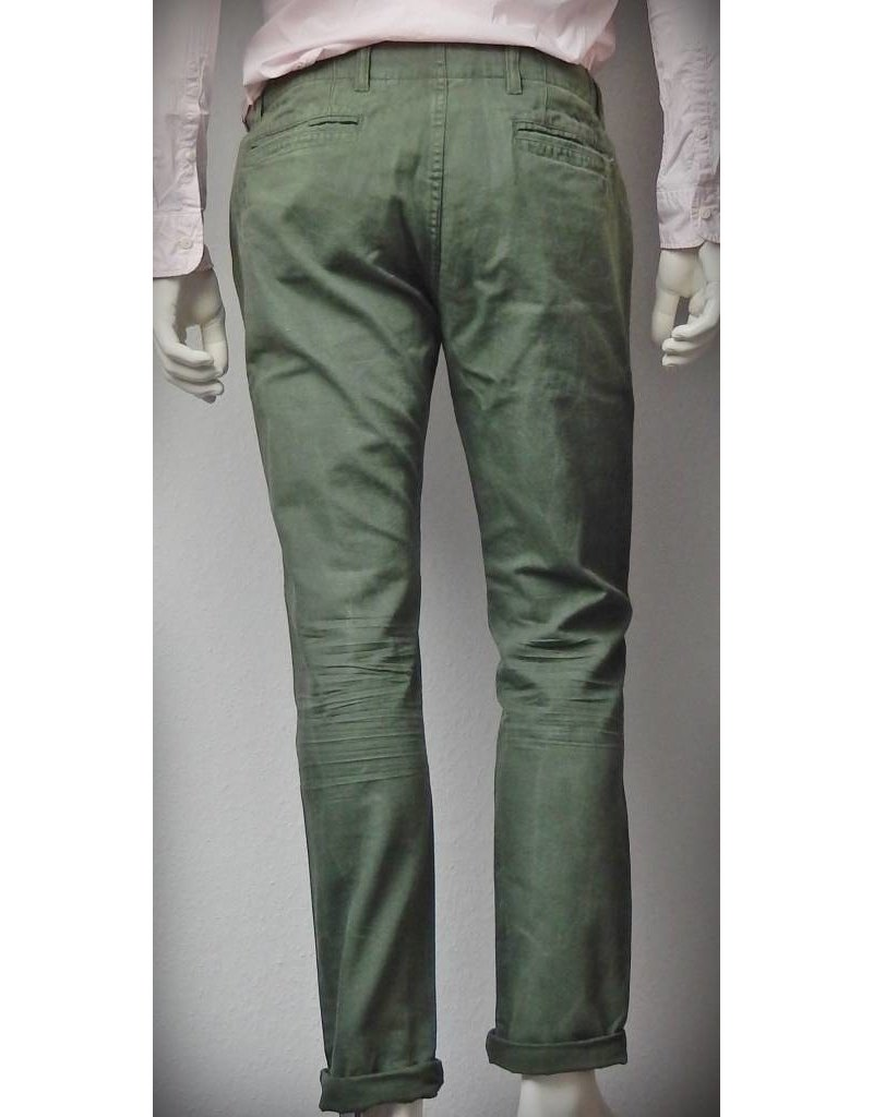 Dstrezzed Tapered Chino Double WB Army Green