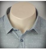 Dstrezzed Hemd Dot Stripe Steel Blue