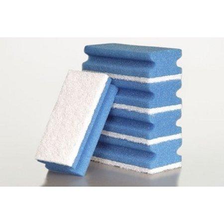 Schuurspons Synthetisch Blauw/Wit 5 stuks