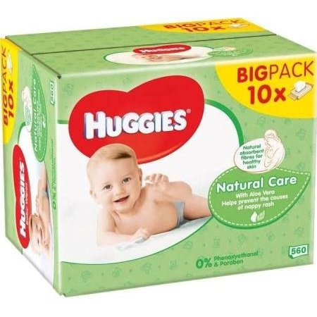 HUGGIES BABYDOEKJES - NATURAL CARE 10 PACK