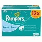 Pampers Pampers frais Clean - lingettes Recharge 12x64 points.