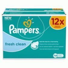 Pampers Fresh Clean - Billendoekjes Navulpak 12x64 st.