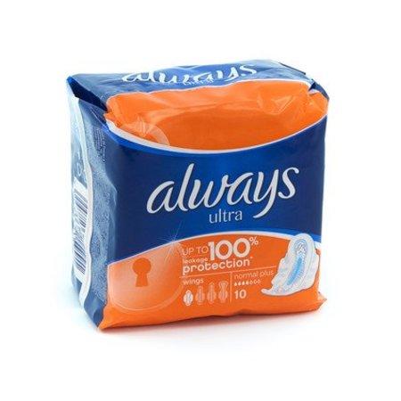 Always sanitary pads 10pcs Ultra normal plus
