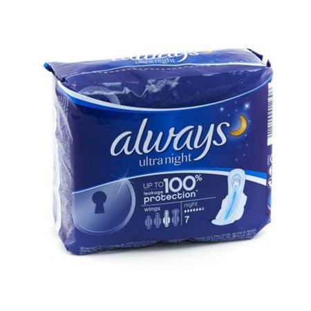 Always Ultra sanitary napkin 7st night