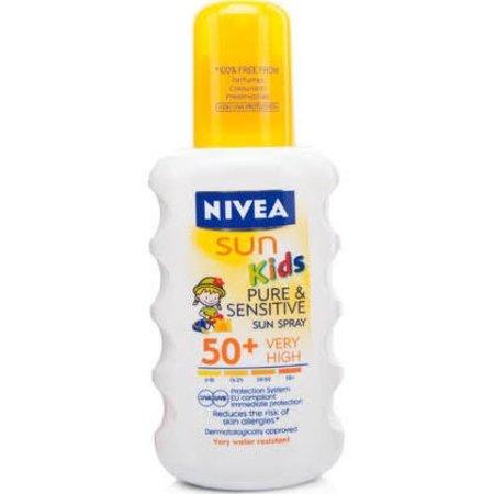 Nivea Sun Kids Pure & Sensitive Zonnespray SPF 50+ 200 ml