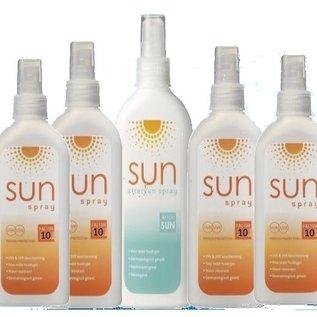 SUN 4 Flaschen Sonnenfaktor 10 + 1 200ML Flasche aftersun