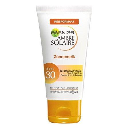 Garnier Ambre Solaire Reisformaat Zonnemelk SPF 30 - 50 ml - Zonnebrandcrème