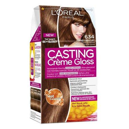 L'Oreal Paris Casting Crème Gloss 634 Honig Biscuit Dunkelblond Gold Kupfer