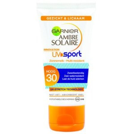 Garnier Ambre Solaire UV Sport Reisformaat Zonnemelk SPF 30 - 50 ml - Zonnebrandcrème