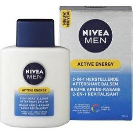 NIVEA MEN Active Energy 2-in-1 - 100 ml - Aftershave Balsem