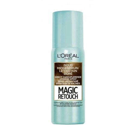 L'Oréal Paris Magic Retouch - Goud Middenbruin - Camouflerende Uitgroei Spray - 75ml