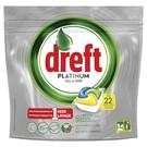 Dreft Dreft Platinum Citroen - 22 Stuks - Vaatwastabletten