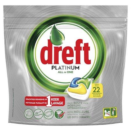 Platinum Citroen Dreft - 22 Stück - Spülmaschinen-Tabs