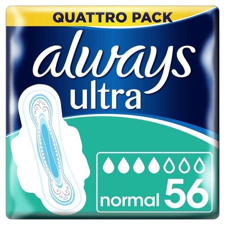 Hygienische Binden Always Ultra normal plus 56 Stück
