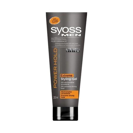 Syoss Men Power Hold Extra Strong Gel 250ml