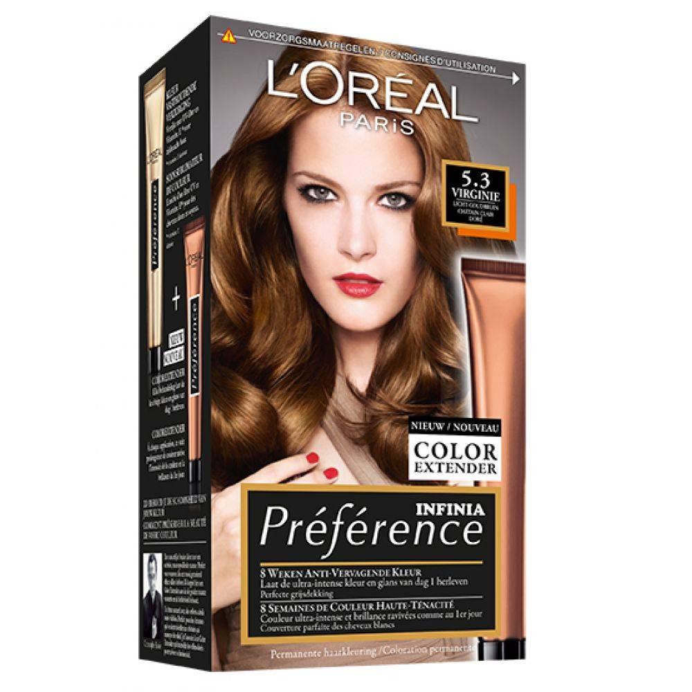 L'Oréal Préférence 5.3 Virginie Licht Hazel
