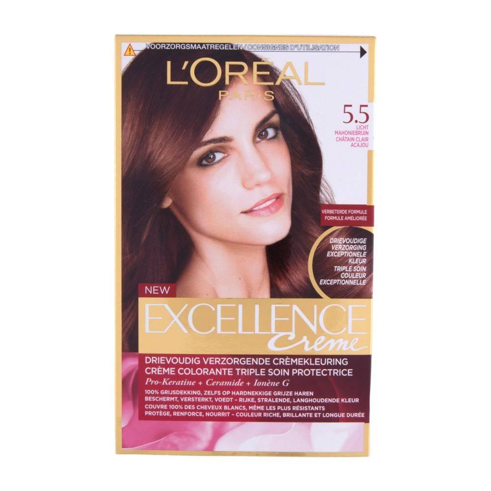 L`Oréal L'Oréal Excellence Creme 5.5 Light Mahogany brown