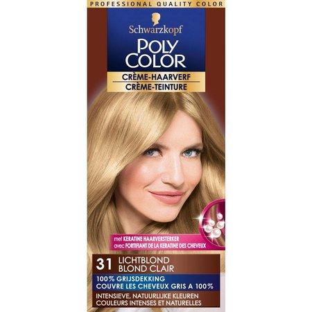 Poly Color Hair Dye 31 Light Blond 90 ml