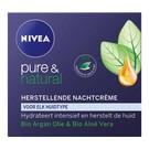 Nivea Nivea Pure & Natural Regenerations Nachtcreme 50 ml