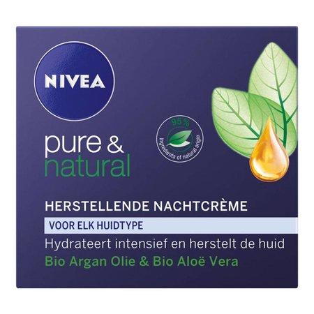 Nivea Pure & Natural Herstellende Nachtcreme 50 ml