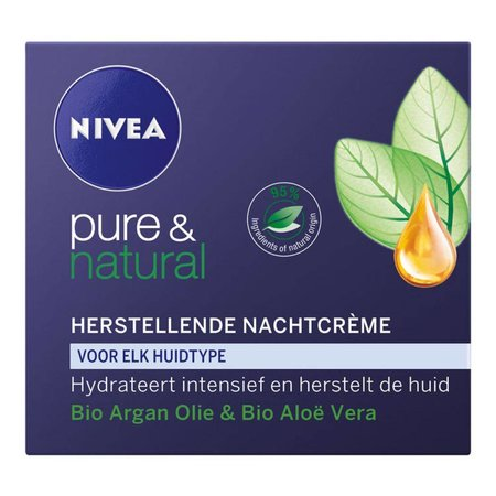 Nivea Pure & Natural Regenerations Nachtcreme 50 ml