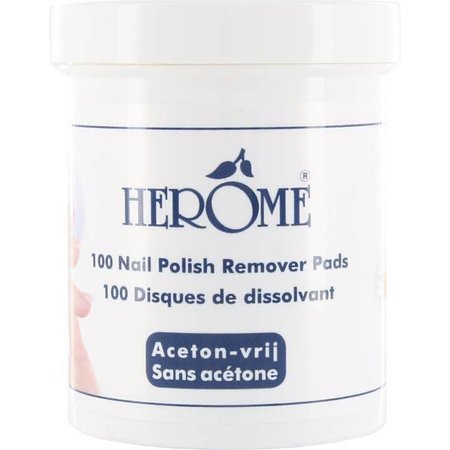 Herome Remover Pads - 100 pcs - Nail polish remover