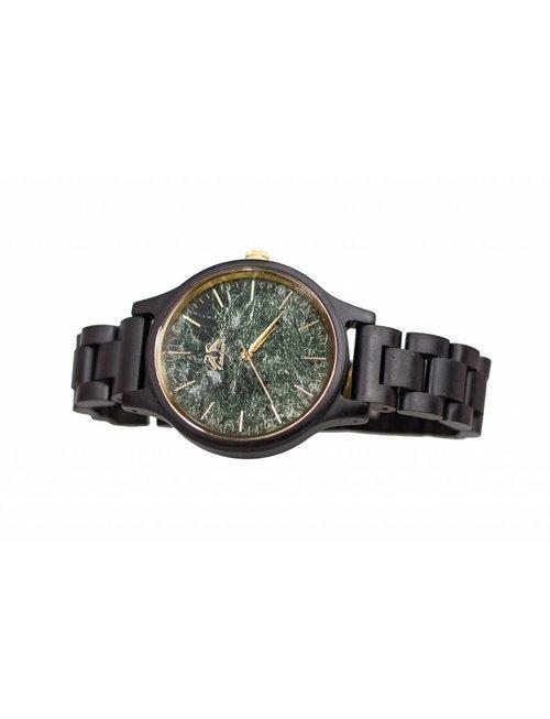 Hodalump Holz Uhr black