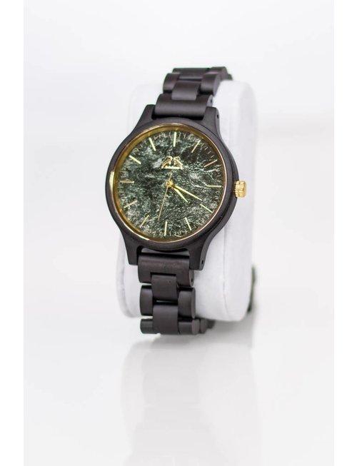Hodalump Holz Uhr schwarz