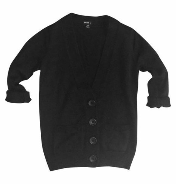 Minis Only OVERSIZED CARDIGAN BLACK