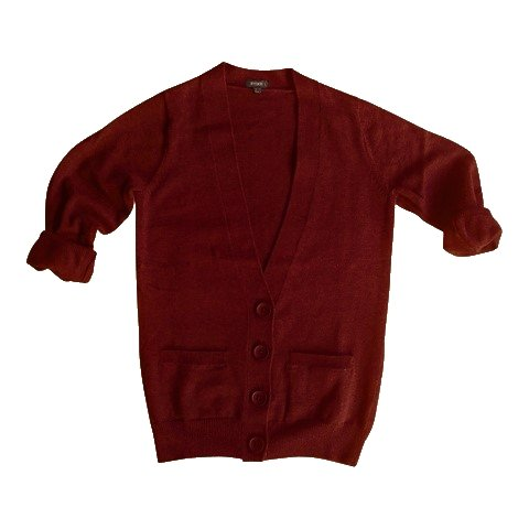 Minis Only OVERSIZED CARDIGAN BURGUNDY RED