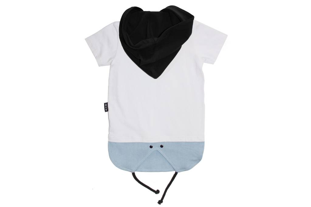 Adam + Yve WHITE SCOOP HEM TEE