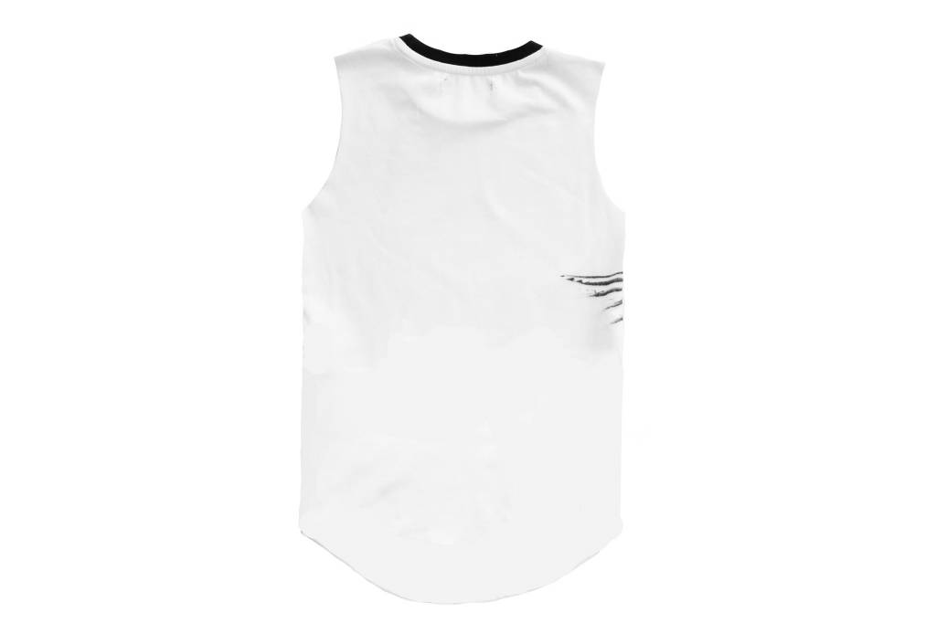 Adam + Yve WHITE DOVE MUSCLE TEE