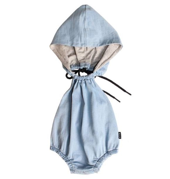 Adam + Yve DENIM HOODED ROMPER
