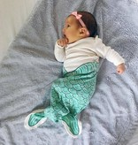 Electrik Kidz GEKNOOPTE SLAAPZAK MERMAID GREEN - ELECTRIK KIDZ