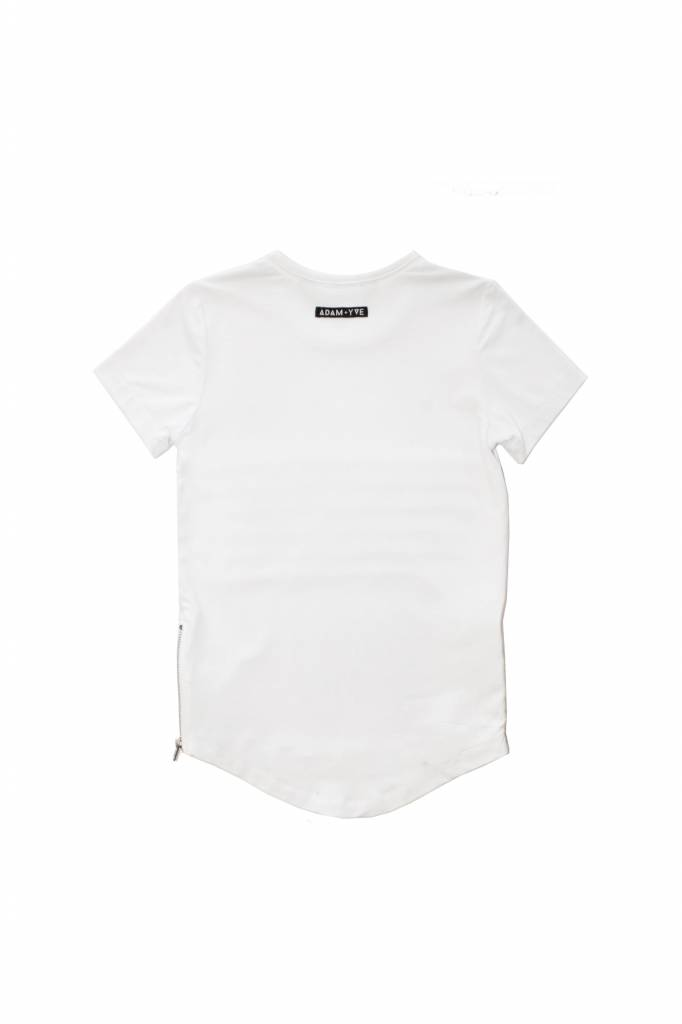 Adam + Yve WHITE SIDE ZIP TEE
