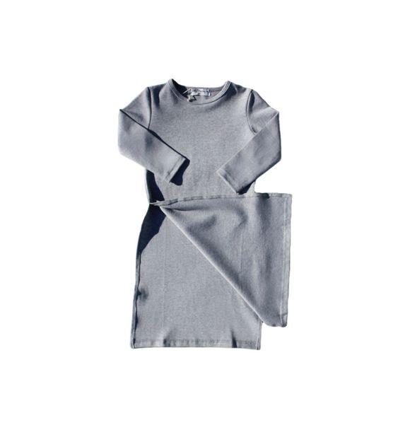 Babyleggingco GREY LONG DRESS