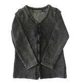 Paxton & Co ACID WASH CARDIGAN BLACK