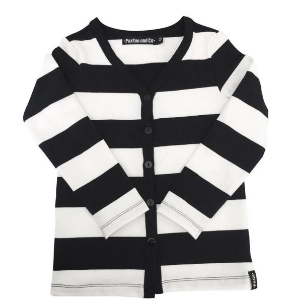 Paxton & Co B&W BASIC CARDIGAN
