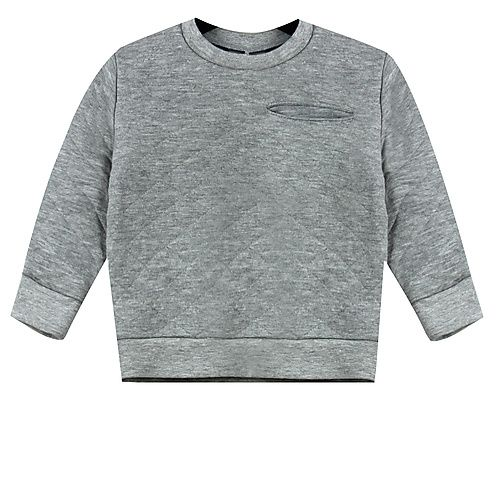 Ducky Beau GREY QUILTED SWEATER