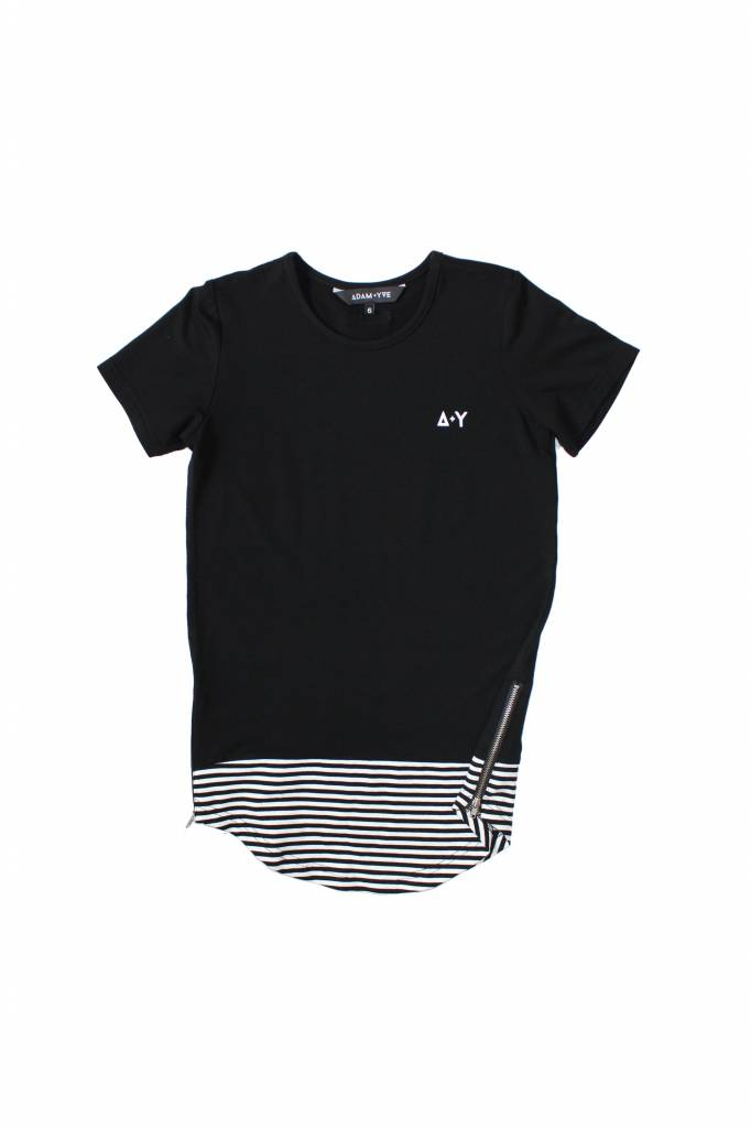Adam + Yve BLACK LONG LINE TEE
