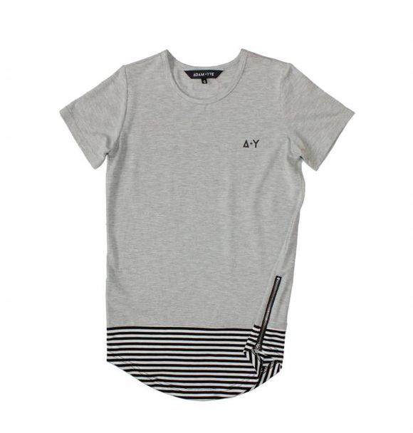 Adam + Yve GREY LONG LINE TEE