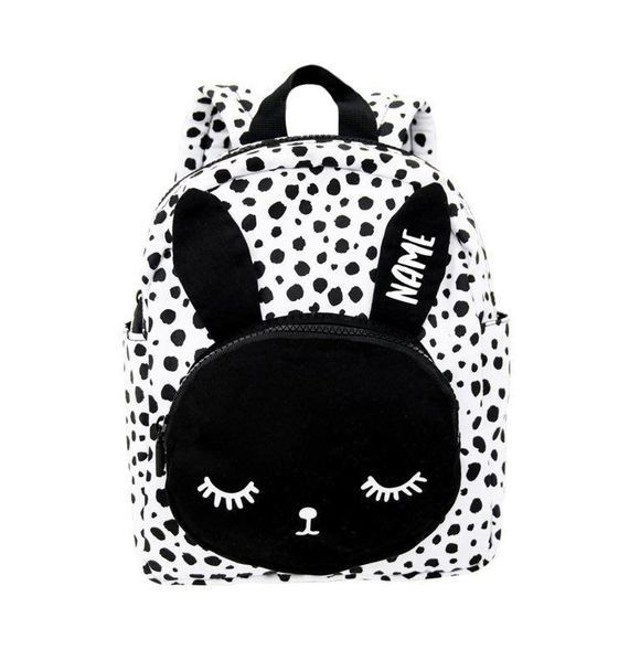 VanPauline BACKPACK BUNNY WHITE + NAME