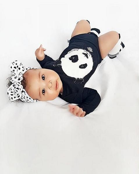 zwart-wit romper panda