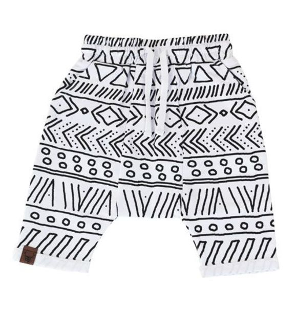 Oovy WHITE TRIBAL SHORTS