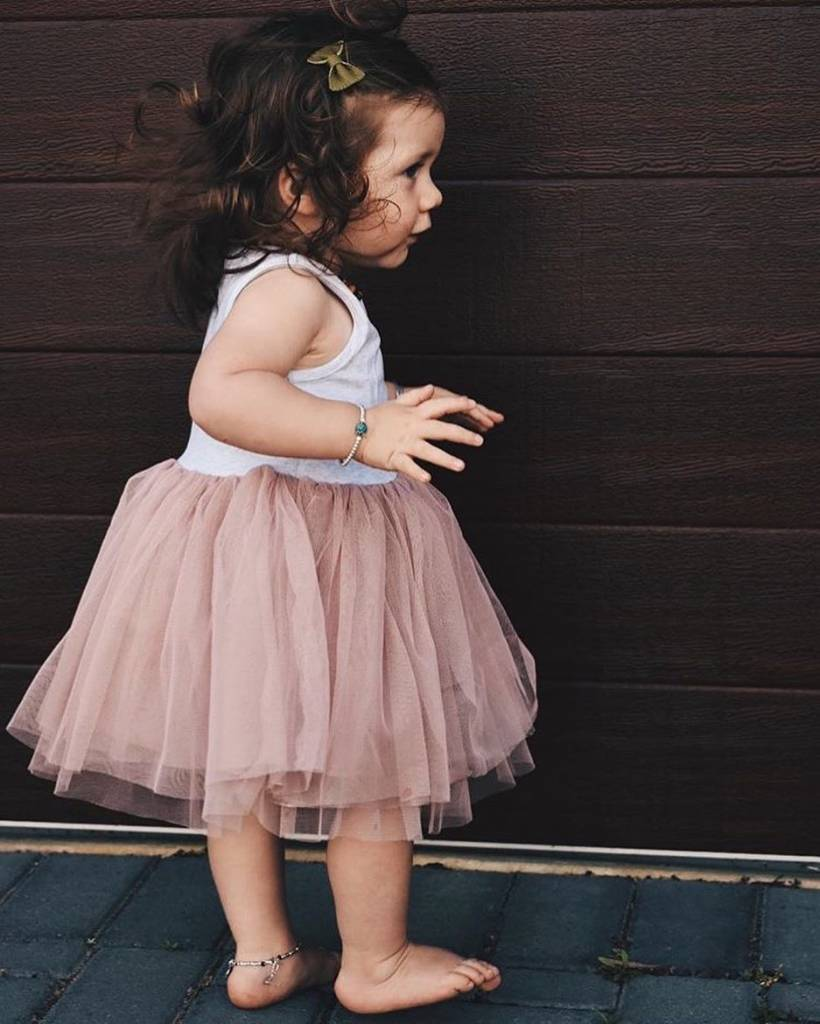 Little Johns Kidswear INDIE ROSE TUTU - DUSTY PINK - LITTLE JOHNS KIDSWEAR