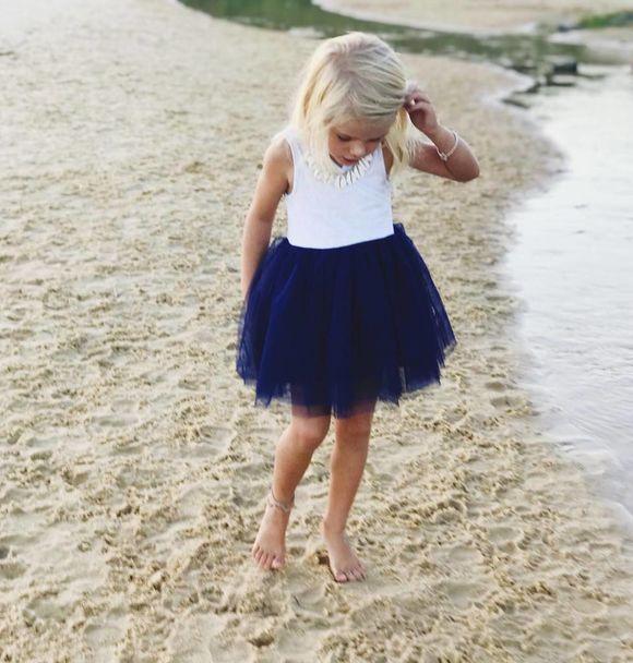 Little Johns Kidswear INDIE ROSE TUTU - NAVY