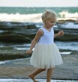 Little Johns Kidswear INDIE ROSE TUTU - CREAM - LITTLE JOHNS KIDSWEAR